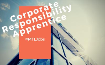 Corporate Responsibility & Sustainability Apprentice